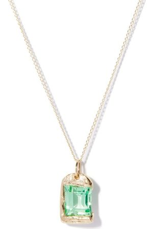 Bleue Burnham The Rose Sapphire & Recycled 9kt Necklace - Mens