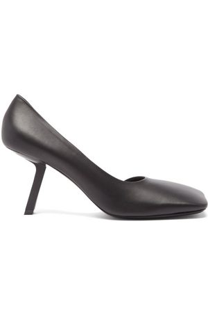 Balenciaga Void Square-toe Leather D'orsay Pumps - Womens