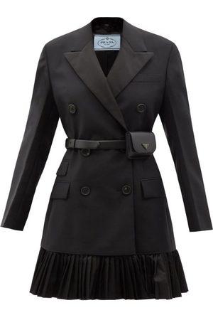 Prada Women Blazers - Double-breasted Belted Mohair-blend Blazer Dress - Womens