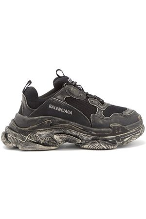 Balenciaga Triple S Faux-leather And Mesh Trainers - Womens