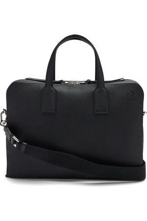 Loewe Goya Anagram-debossed Grained-leather Briefcase - Mens