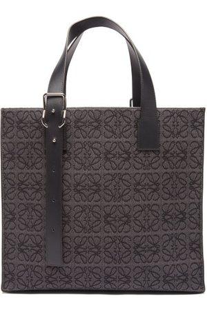 Loewe Men Bags - Anagram-jacquard Canvas & Leather Tote Bag - Mens