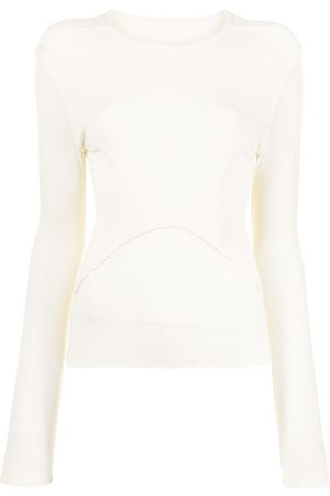 Dion Lee Women Tops - Y-front layered top - Neutrals