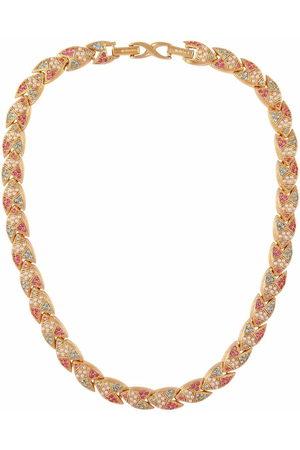 Susan Caplan Vintage Women Necklaces - 1990s D'Orlan crystal-embellished necklace