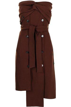 Rokh Women Asymmetrical Dresses - Strapless asymmetric-tied dress