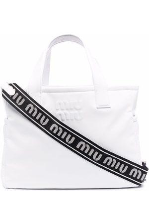 Miu Miu Women Handbags - Ciré patent leather tote bag