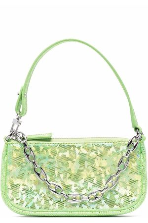 By Far Camouflage-print leather tote bag