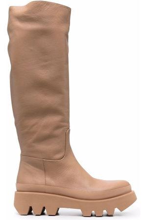 Paloma Barceló Ida knee-high boots - Neutrals