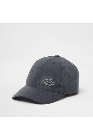 River Island Men Hats - Mens RI suedette cap