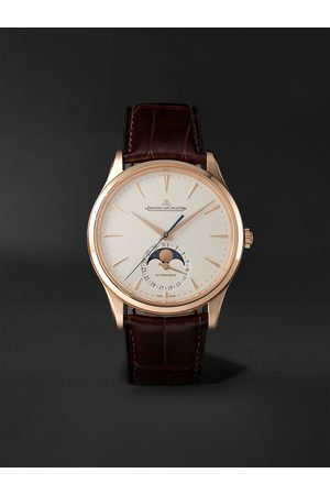 Jaeger-LeCoultre Men Watches - Master Ultra Thin Automatic Moon-Phase 39mm 18-Karat Pink Gold and Alligator Watch, Ref. No. 1362510