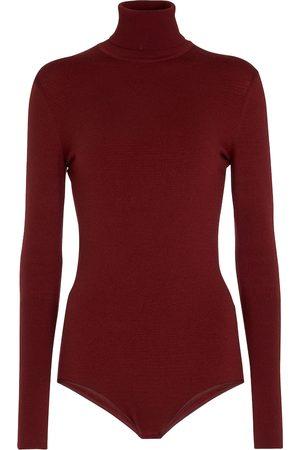 Alaïa Women Bodies - High-neck wool-blend bodysuit