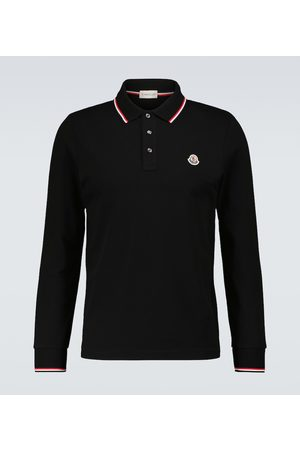 Moncler Long-sleeved polo shirt with logo