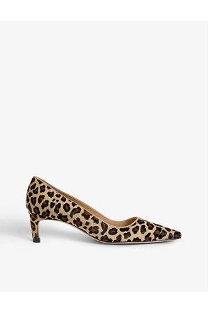 LK Bennett Ava leopard-print calf-hair kitten-heel courts