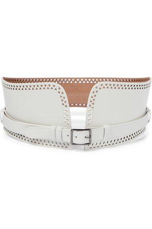 Alaïa Women Belts - Laser-cut leather corset belt