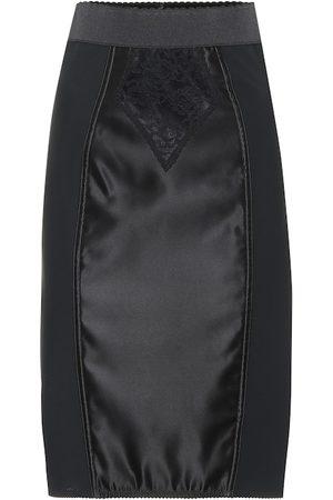 Dolce & Gabbana Satin and lace pencil skirt
