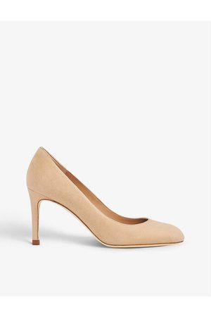 LK Bennett Women Heels - Floret suede heeled courts