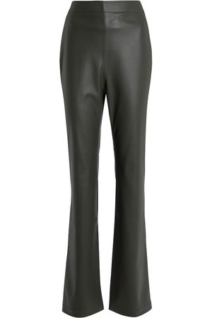 Safiyaa Women Leather Trousers - Goldie high-rise faux leather pants