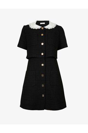 Sandro Women Dresses - Peter Pan-collar organic cotton-blend tweed mini dress