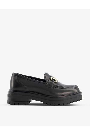 Dune Women Loafers - Snaffle-trimmed leather loafers