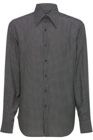 Tom Ford Small Dot Print Rayon & Silk Shirt