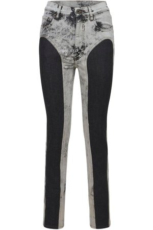 Y / PROJECT Two Tone Cotton Denim Leggings