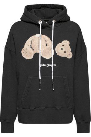 Palm Angels Bear Cotton Jersey Hoodie