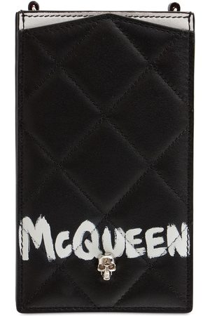Alexander McQueen Women Phones - Quilted Leather Phone Case W/ Chain