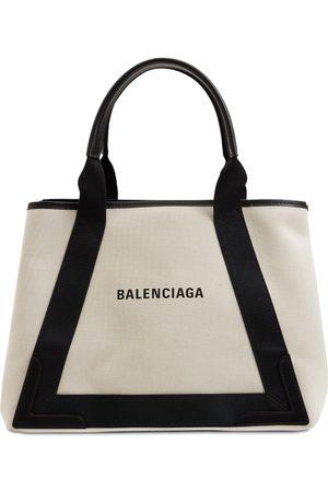 Balenciaga Md Cabas Canvas Tote Bag