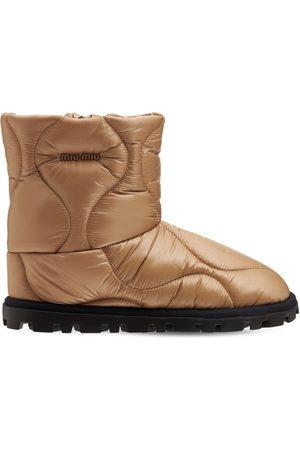 Miu Miu 20mm Padded Nylon Ankle Boots