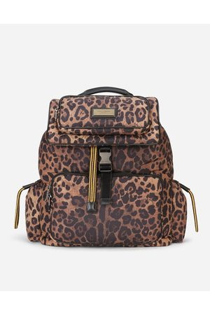 Dolce & Gabbana Backpacks and Fanny Packs - Leopard-print Sicily backpack in quilted nylon male OneSize