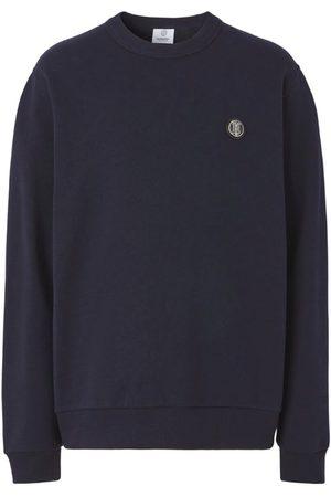 Burberry Men Sweatshirts - Monogram Appliqué Sweatshirt