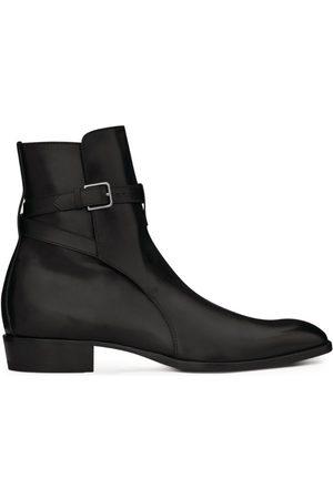 Saint Laurent Leather Wyatt Jodhpur Boots