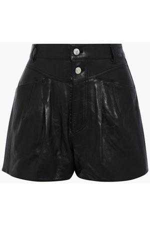 IRO Women Shorts - Woman Harald Pleated Leather Shorts Size 34