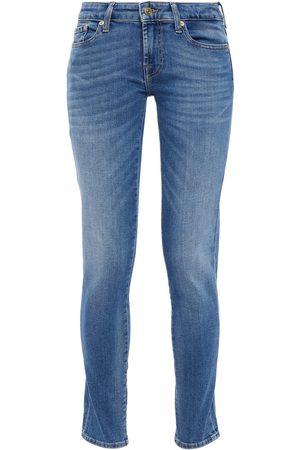7 for all Mankind Women Slim - Woman Pyper Mid-rise Slim-leg Jeans Mid Denim Size 25