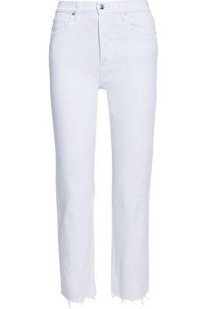 IRO Women Slim - Woman Doune Cropped Frayed High-rise Slim-leg Jeans Size 27