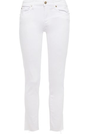 7 for all Mankind Women Slim - Woman Cropped Mid-rise Slim-leg Jeans Size 23