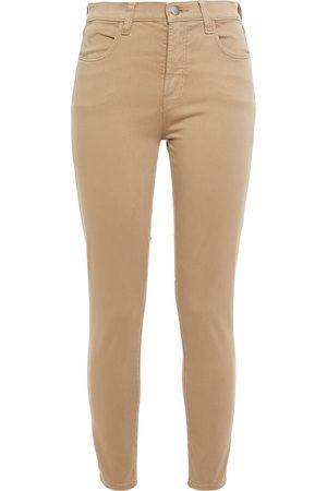 J Brand Woman Cropped Cotton-blend Sateen Skinny Pants Size 26