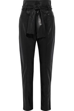 IRO Woman Eldred Belted Leather Tapered Pants Size 34