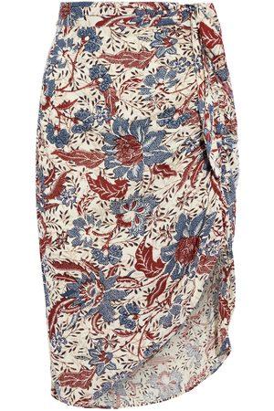 Walter Baker Woman Julianna Wrap-effect Printed Slub Gauze Skirt Ecru Size 0