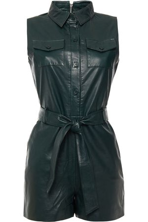 Walter Baker Women Jumpsuits - Woman Lilas Belted Leather Playsuit Dark Size S
