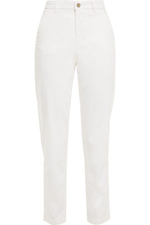 7 for all Mankind Women Trousers - Woman Cotton-blend Twill Tapered Pants Size 24