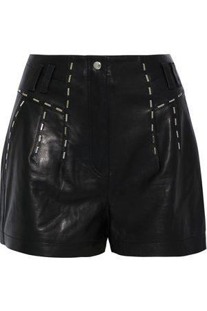 IRO Women Shorts - Woman Junko Studded Leather Shorts Size 34