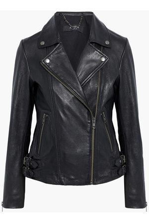 Muubaa Women Leather Jackets - Woman Adeline Leather Biker Jacket Size 10