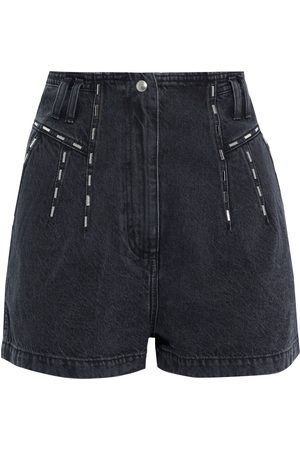 IRO Woman Barra Studded Denim Shorts Size 36