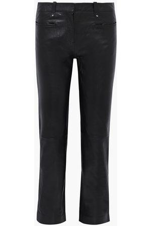 Muubaa Women Leather Trousers - Woman Brooklyn Leather Straight-leg Pants Size 10