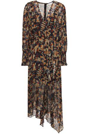 IRO Women Midi Dresses - Woman Jorma Asymmetric Printed Georgette Midi Dress Size 36