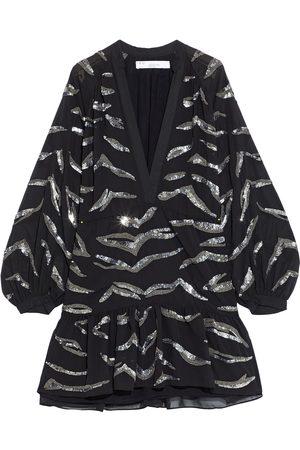 IRO Woman Jounia Gathered Embellished Chiffon Mini Dress Size 34