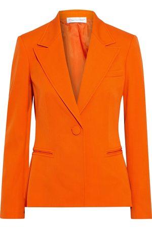 Oscar de la Renta Women Blazers - Woman Wool-blend Twill Blazer Bright Size 10