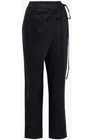 Oscar de la Renta Women Trousers - Woman Linen And Ramie-blend Straight-leg Pants Size 0