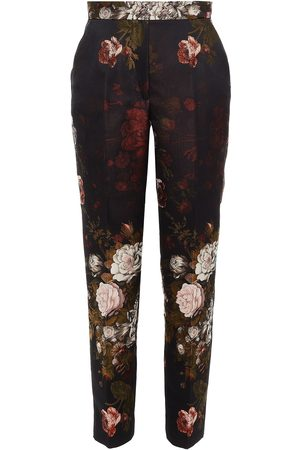 Dolce & Gabbana Woman Floral-jacquard Tapered Pants Size 40